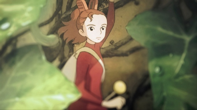 A picture of Arrietty taken from the 'Arrietty' movie cover (Studio Ghibli).