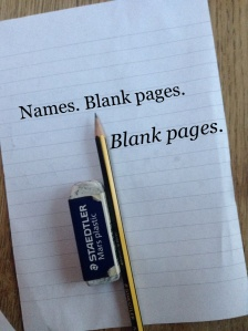 Names; Blank Pages