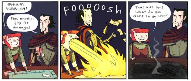 Nimona comic, copyright Noelle Stevenson