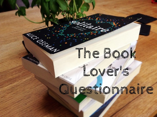 Book lover's questionnaire
