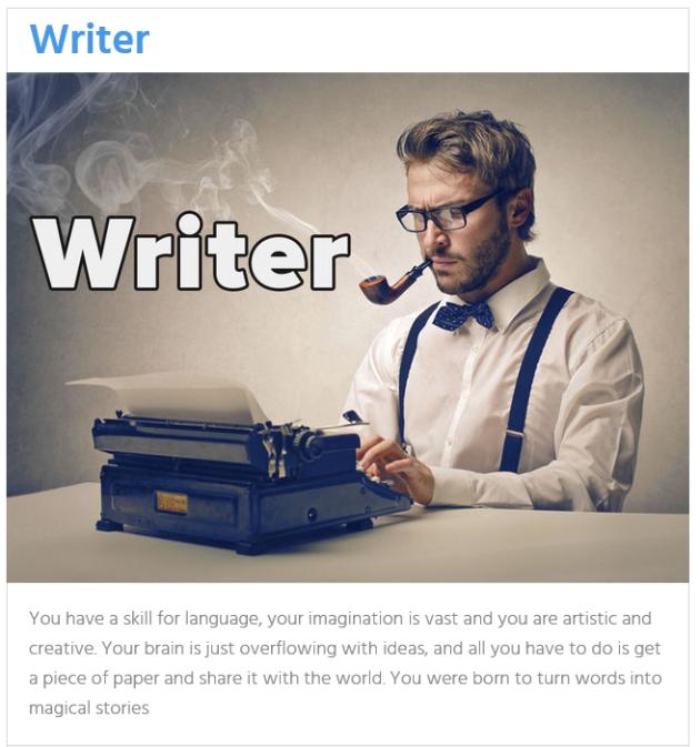 writer career result