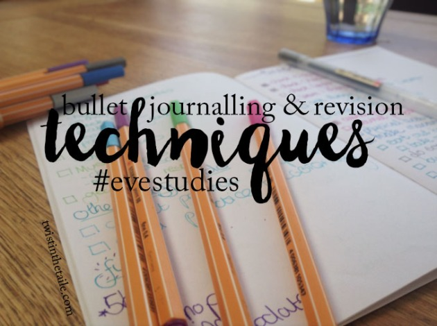 bullet journaling revision evestudies