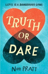 Cover of Truth o Dare by Non Pratt. Illustration of two hearts, one facing upwards and the other downwards, overlapping in the centre.