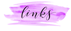 Purple watercolour swash with the word 'links' in a script font.