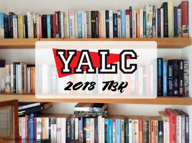 A bookshelf with the YALC logo on top and the text '2018 TBR'.